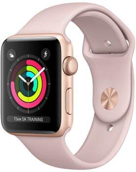 Inteligentné hodinky Apple Watch Series 3 OLED  displej Ion-X tvrdené sklo kvalitný displej monitorovanie tepu srdca hudobný prehrávač volanie notifikácia NFC platby Apple Pay App Store repasované obnovené originálne Apple súčiastky Renewd refurbished smartwatch