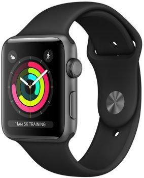 Chytré hodinky Apple Watch Series 3 OLED displej Ion-X tvrdené sklo kvalitný displej monitorovanie tepu srdca hudobný prehrávač volanie notifikácia NFC platby Apple Pay App Store repasované obnovené originálne Apple súčiastky Renewd refurbished smartwatch