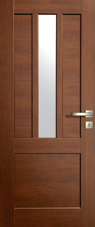 VASCO DOORS Interiérové dveře LISBONA kombinované, model 3, Ořech, B