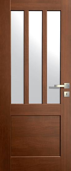 VASCO DOORS Interiérové dveře LISBONA kombinované, model 5, Ořech, A