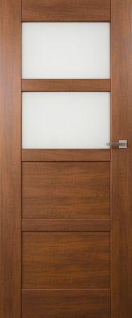 VASCO DOORS Interiérové dveře PORTO kombinované, model 3, Ořech, A