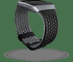Fitbit Ionic - sportovní řemínek Černošedý - velikost S - zánovní