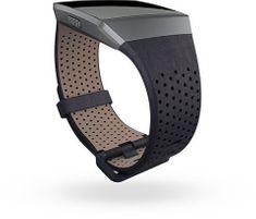 Fitbit Ionic - perforovaný kožený remienok Midnight Blue - Veľkosť S
