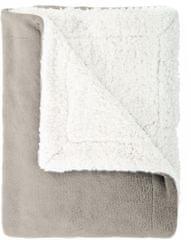 Mistral Home Mouton szürkés bézs színű műgyapjú takaró (pléd)