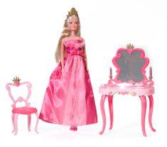 Simba lutka Steffi - miza in stol za ličenje