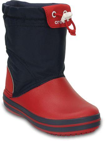 Crocs otroški škornji Crocband LodgePoint, modro-rdeči, 24,5