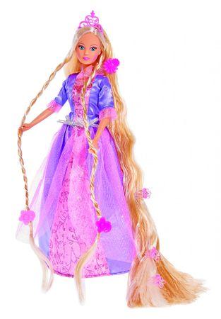 Simba lutka Steffi Rapunzel - v vijolični obleki