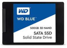 """WD SSD disk SATA 3 500 GB BLUE 3D NAND 6,35 (2,5"""") (WDS500G2B0A)"""