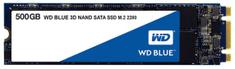 WD SSD disk SATA 3 500 GB BLUE 3D NAND M.2 2280 (WDS500G2B0B)