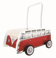 Hape voziček potovalni avtobus T1, rdeča