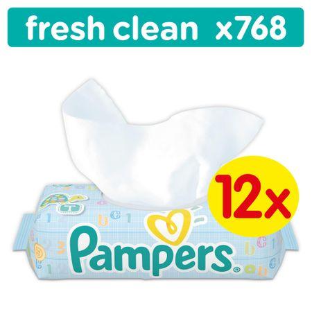 Pampers Baby Fresh 12x64db Törlőkendő