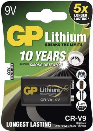 GP CR-V9, 9V lithiová, 1 ks