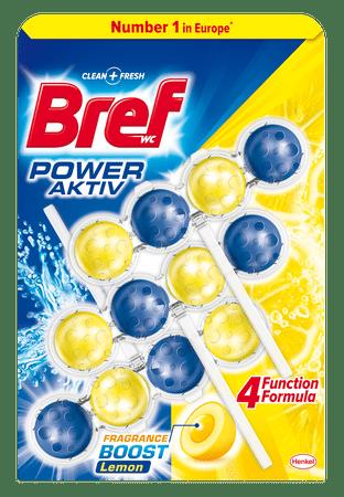 Bref Power Aktiv WC blokk Lemon 3 x 50 g