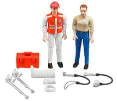 BRUDER 62710 bWorld Figurki ratownika i pacjentki