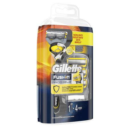 Gillette Fusion ProShield Férfi borotva FlexBall technológiával + 4 db tartalék fej