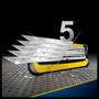 3 - Gillette Fusion ProShield Férfi borotva FlexBall technológiával + 4 db tartalék fej