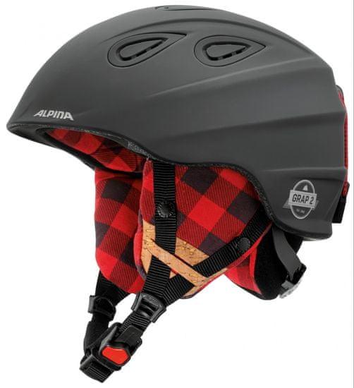 Alpina Sports Grap 2.0 Le Black-Lumberjack Matt 61-64