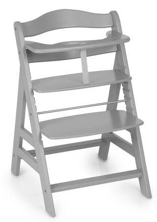 Hauck Alpha+ 2019 židlička dřevěná šedá