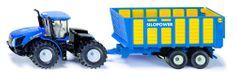 SIKU Farmer - New Holland Traktor Joskin pótkocsival, 1:50