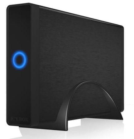 "IcyBox zunanje ohišje IB-377U3, 3.5"" SATA, USB 3.0, črno"