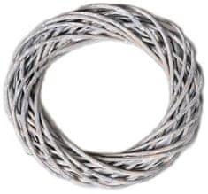 EverGreen Veniec prútený 30 cm, sivá