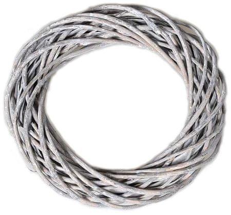 EverGreen wiklinowy wieniec, 30 cm, szary