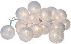 Solight vianočné gule bavlnené, 30 LED 3 m