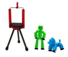 EP LINE Stikbot szett - zöld + kék kutya figura