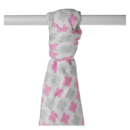 XKKO antyalergiczny ręcznik BMB 90x100 - Scandinavian Baby Pink Cross