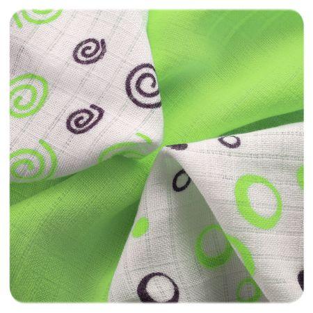 XKKO Bambusové ubrousky Spirals&Bubbles 30x30 cm, 9ks 28 x 39 cm zöld
