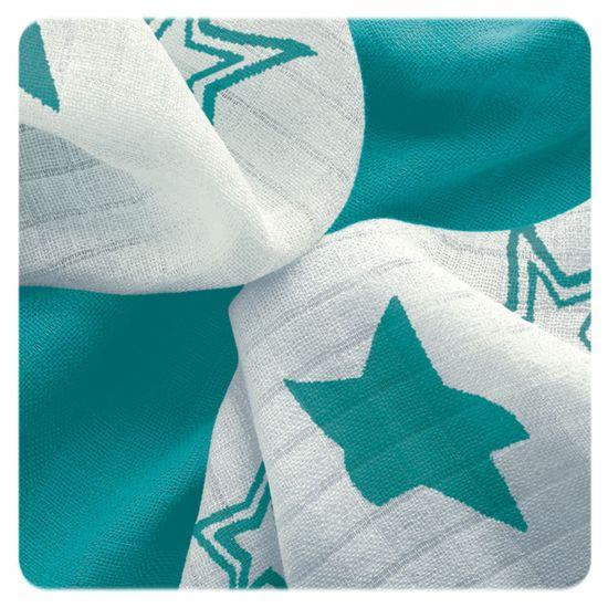 XKKO Bambusové utierky Stars 30x30 cm, 9ks zelená