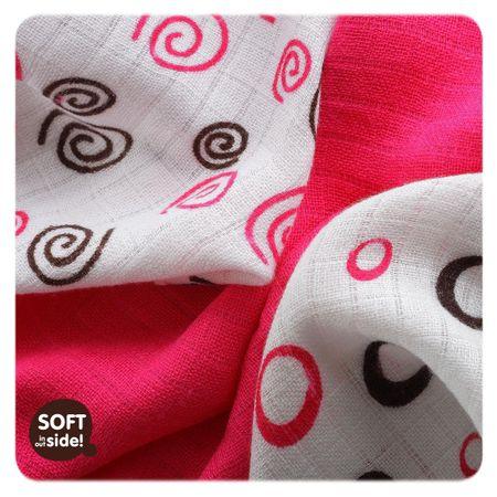 XKKO Bambusové ubrousky Spirals&Bubbles 30x30 cm, 9ks 28 x 39 cm piros