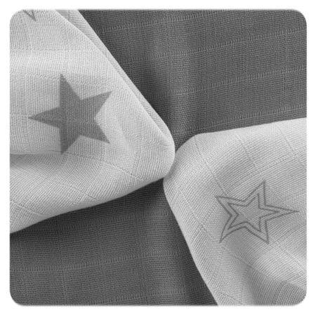 XKKO Bambusové utierky Stars 30x30 cm, 9ks sivá