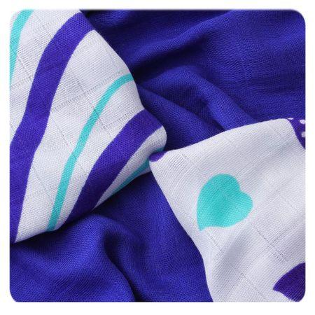 XKKO Bambusové ubrousky Hearts&Waves 30x30 cm, 9ks 28 x 39 cm kék