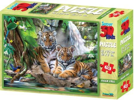 Lamps 3D Puzzle Tigris 63 darabos