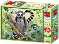 Lamps 3D Puzzle Lemur 48 dílků