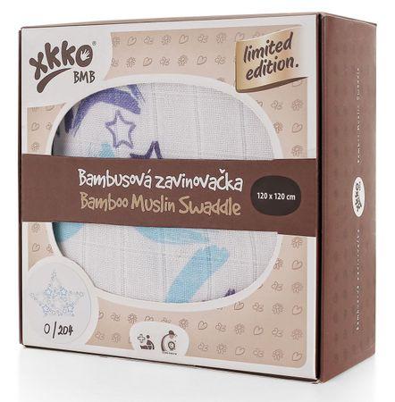 XKKO Bambusová zavinovačka Limited Edition 120x120 cm kék tekercsek