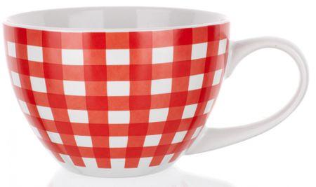 Banquet kubek ceramiczny Jumbo 400 ml, czerwone płótno