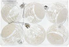 Seizis Vánoční koule transparentní malované, 12 ks