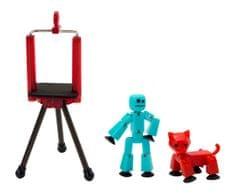 EP LINE StikBot szett - kék + piros macska figura