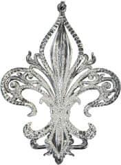Seizis Závesná dekorácia s glitrami 12,5 cm, strieborná, 2 ks