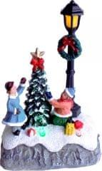 Seizis dekoracja Polystone z LED - dzieci dekorujące choinkę