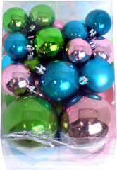 Seizis Vianočné gule 50 ks, mix