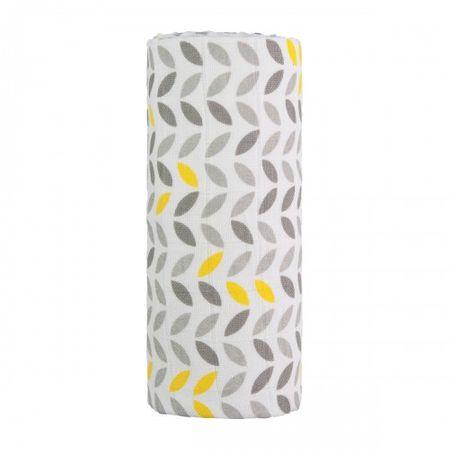 482eb842d0 T-tomi Veľká bavlnená TETRA osuška šedá žltá