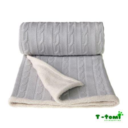 T-Tomi Pletená deka šedá