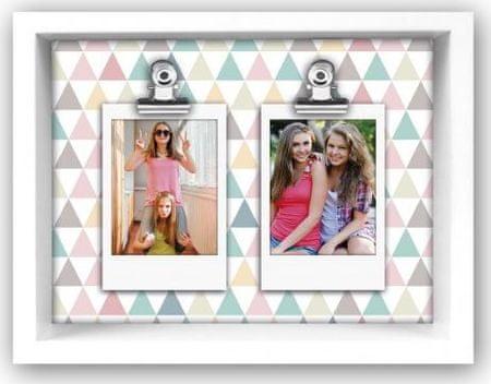 ZEP foto okvir Funny Triangle, 2 sliki, 5,3x8,5 cm, (TD19T)