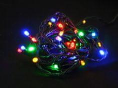 Seizis LED osvětlení s časovačem 40 žárovek, barevná