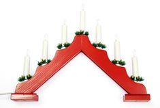 Seizis Elektrický svícen stříška, 7 žárovek, červený