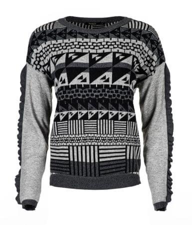 Desigual ženski pulover Tormenta XS siva