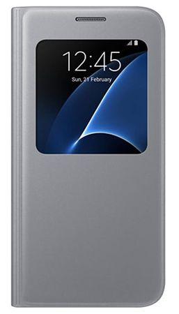SAMSUNG Tok - S View Cover S7-hez (G930) Ezüst